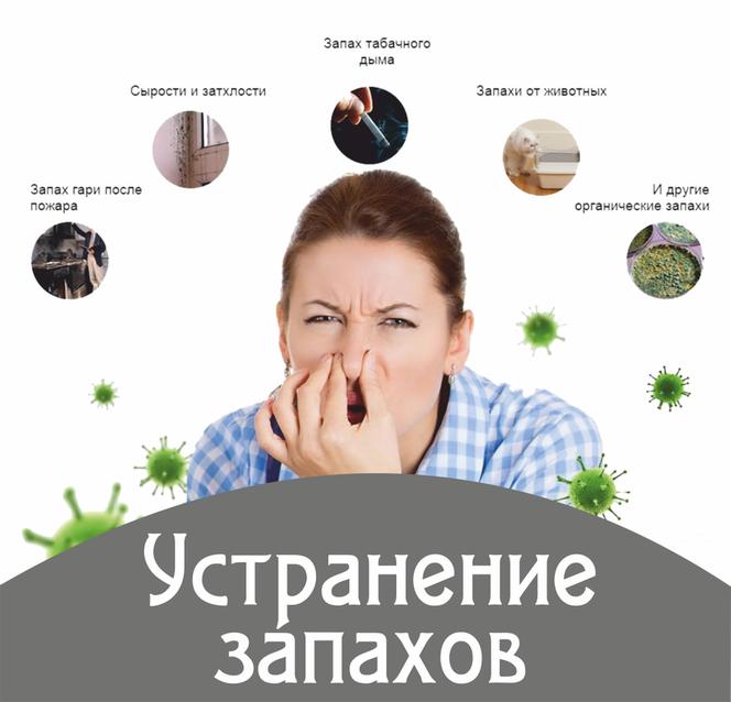 Услуги по устранению запахов
